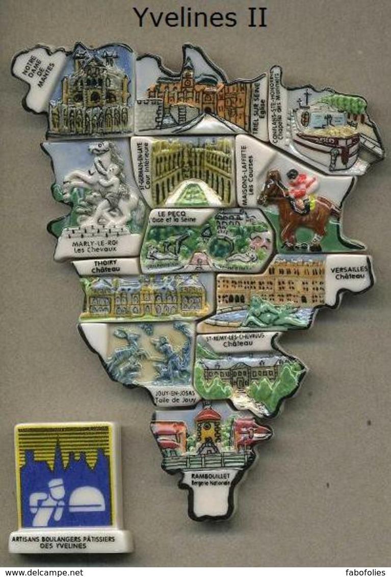Serie Complete De 13 Feves Yvelines II - Région