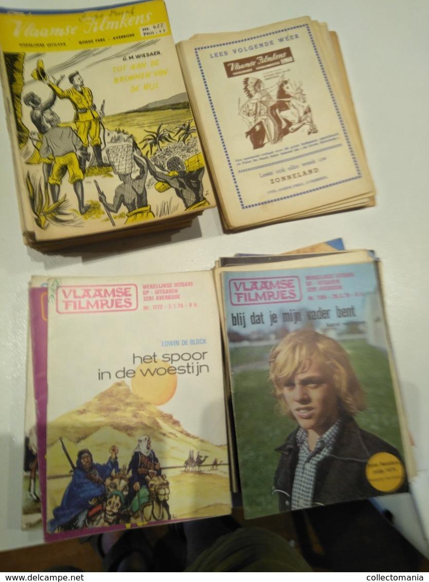 90 Vlaamse Filmkens, Goede Staat - Hans Avontuur Jeugd, Abdij Van Averbode, De Meeste Van Nrs 300 Naar 500 , Ook  Oudere - Old Paper