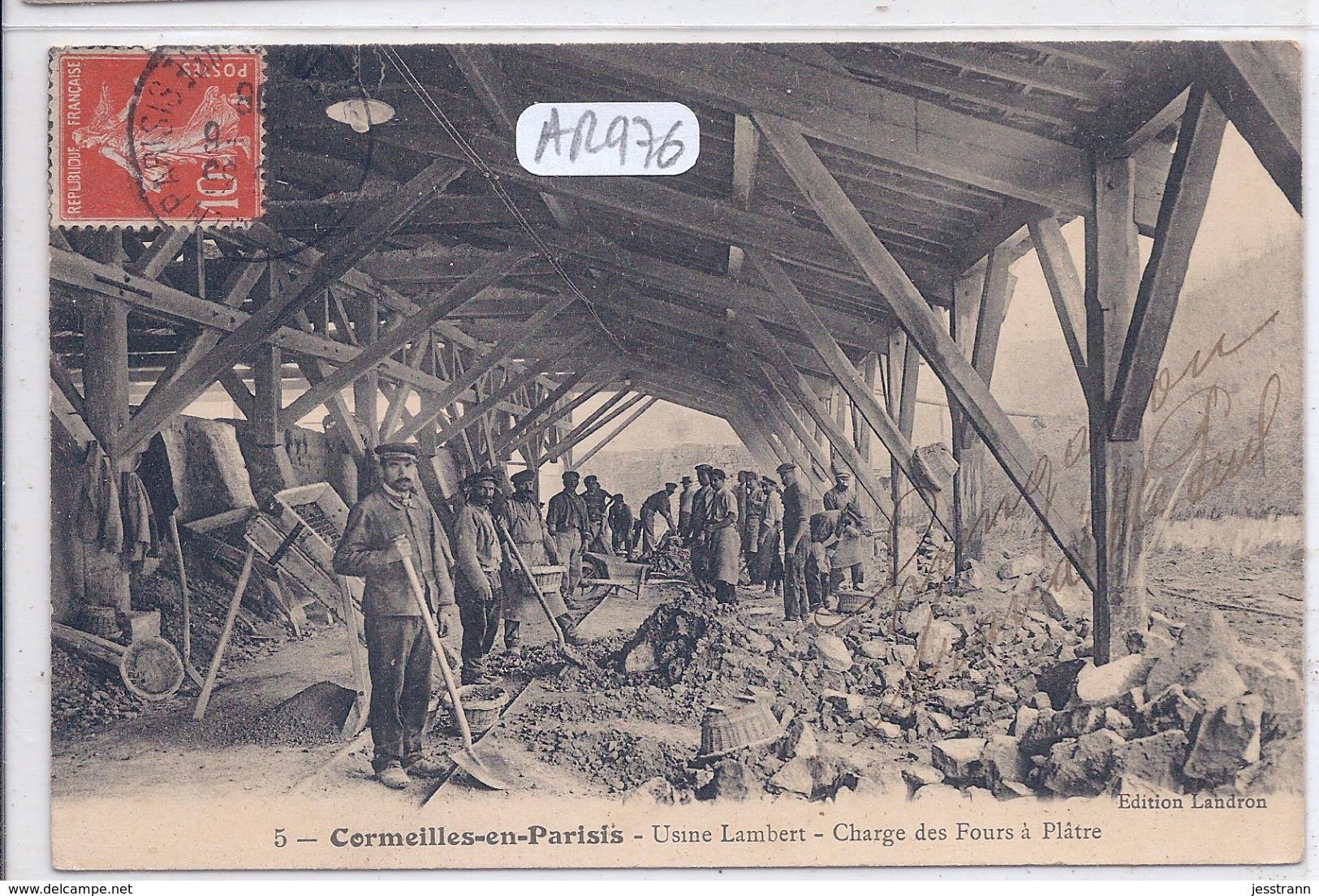 CORMEILLES-EN-PARISIS- USINE LAMBERT- CHARGE DES FOURS A PLATRE - Cormeilles En Parisis