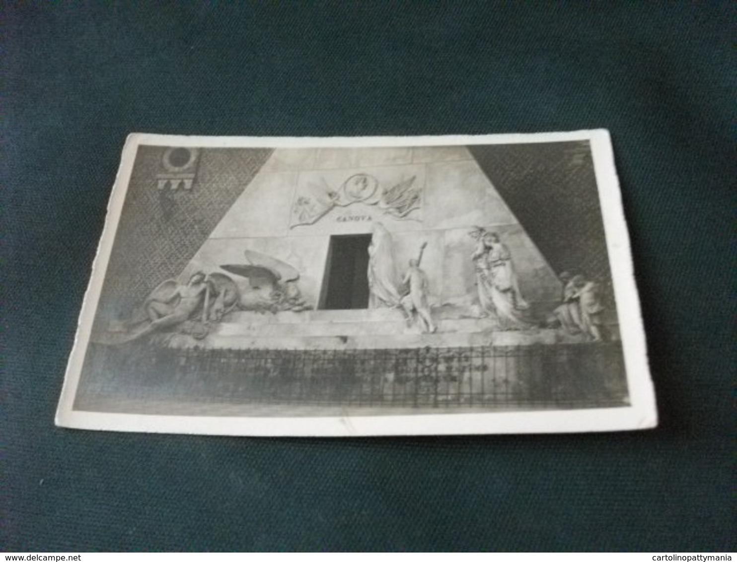 PICCOLO FORMATO VENEZIA CHIESA DI S. M. GLORIOSA DEI FRATI MONUMENTO A CANOVA DETTAGLIO - Sculture