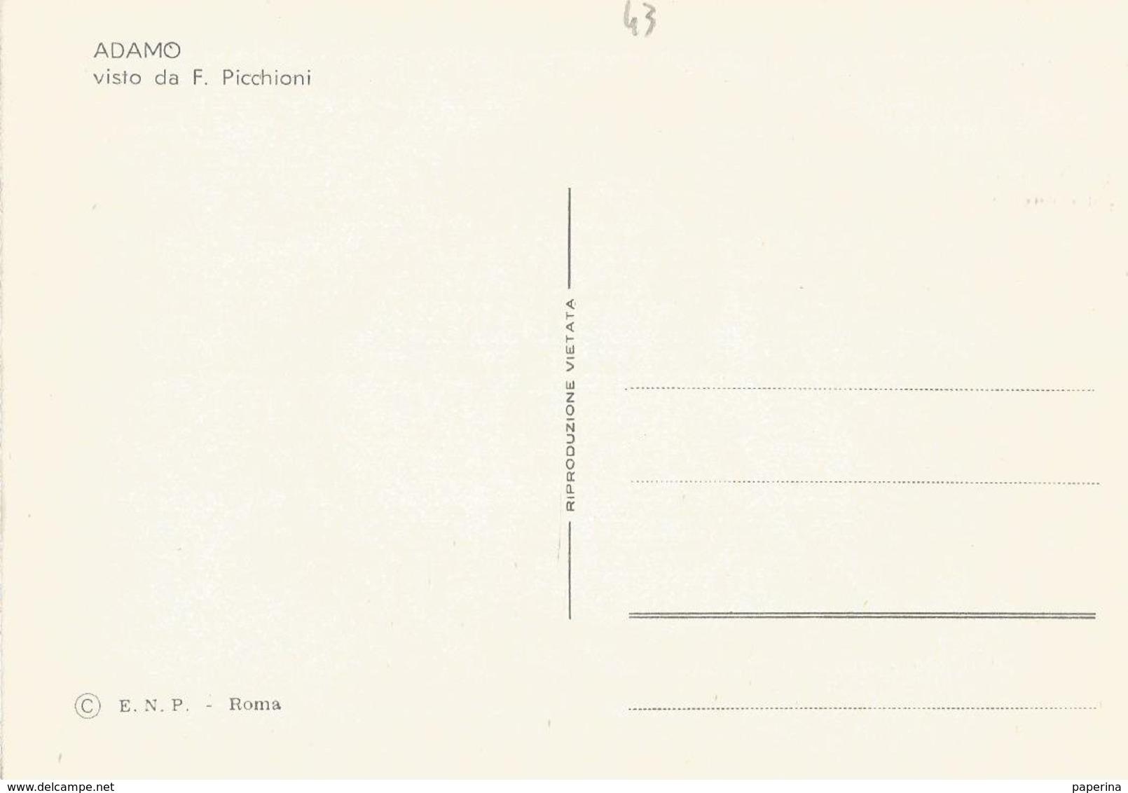 CART. DISEGNATA DA PICCHIONI I BIG DELLA CANZONE  ADAMO  (43) - Cantanti E Musicisti