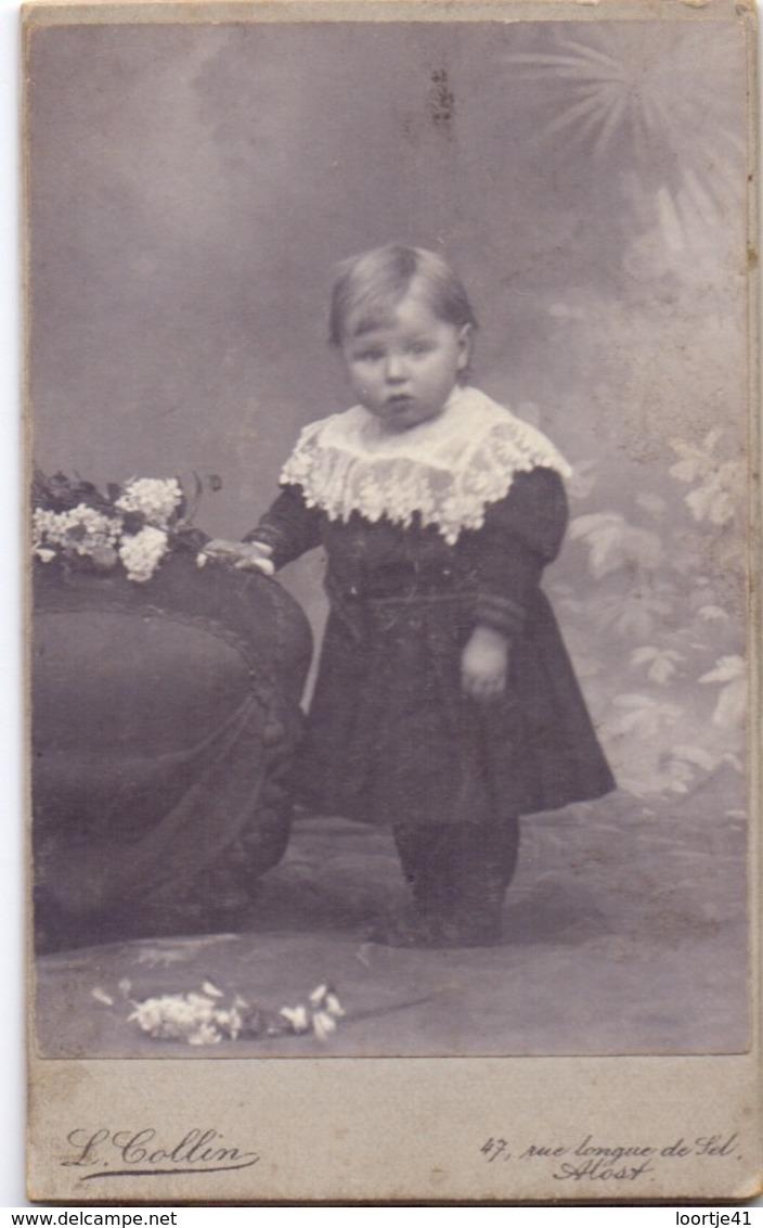 Photo Foto Hard Karton - Meisje Fille - Fotograaf L. Collin - Aalst Alost - Non Classés