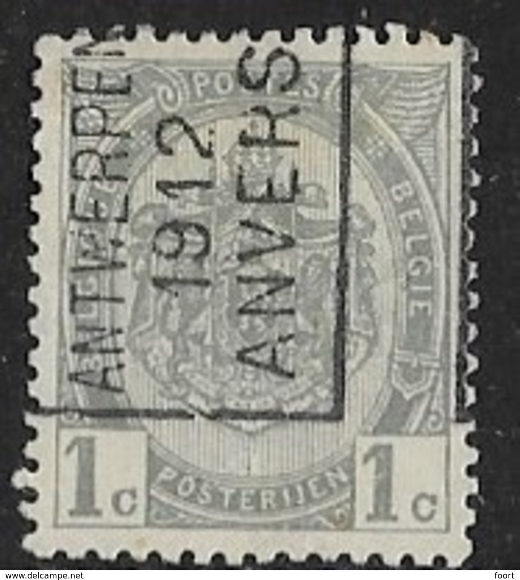 Antwerpen 1912 Nr. 1810Azz - Roller Precancels 1910-19