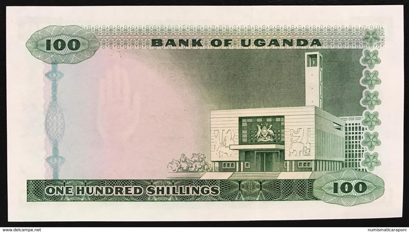 Uganda 100 SHILLINGS 1966 UNC Pick#5    LOTTO 1787 - Uganda