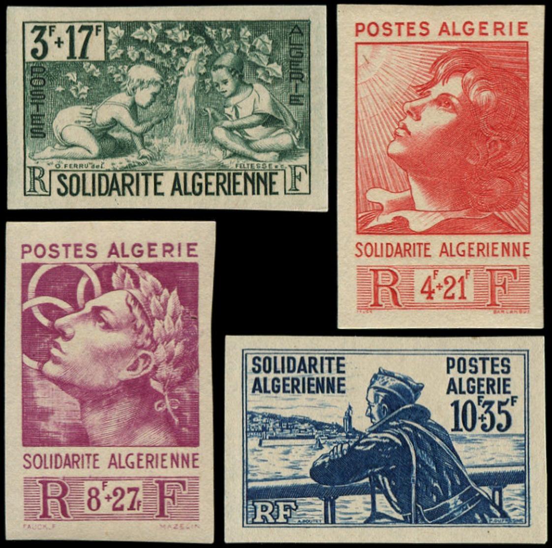 ALGERIE Poste ** - 249/52, Non Dentelés: Solidarité 1946 - Cote: 120 - Algeria (1924-1962)