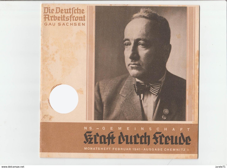 KDF-Monatsheft,Februar 1941, NS-Magazine Kraft Durch Freude, Die Deutsche Arbeitsfront,Gau Saxonia, (Chemnitz) - Hobbies & Collections