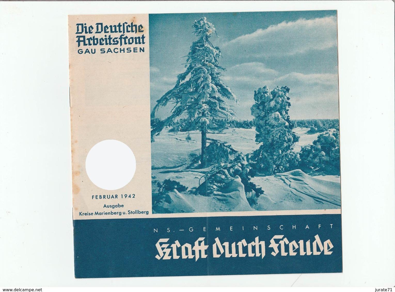 KDF-Monatsheft,Februar 1942, NS-Magazine Kraft Durch Freude, Die Deutsche Arbeitsfront,Gau Saxonia, (Chemnitz) - Hobbies & Collections