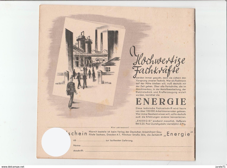 KDF-Monatsheft,September 1940, NS-Magazine Kraft Durch Freude, Die Deutsche Arbeitsfront,Gau Saxonia, (Chemnitz) - Hobbies & Collections