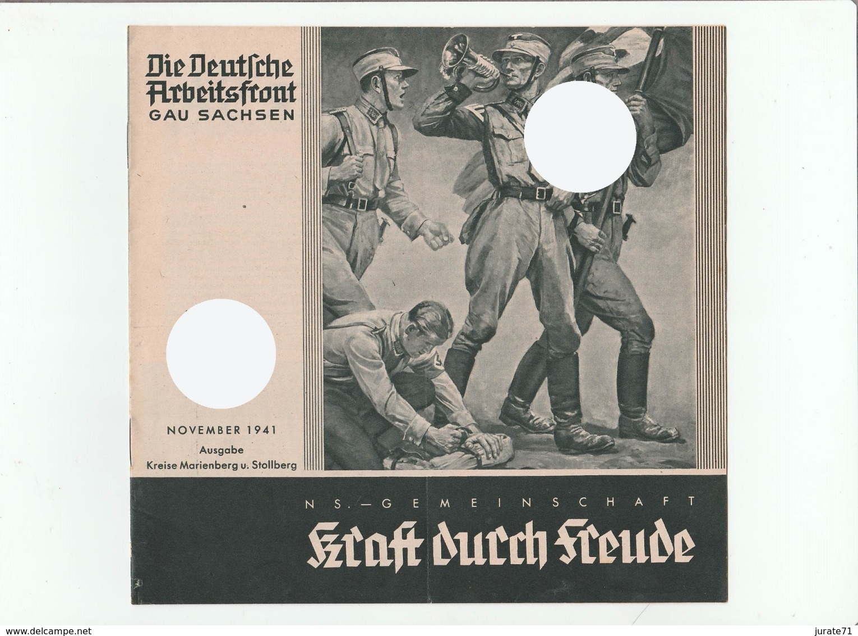 KDF-Monatsheft,November 1941, NS-Magazine Kraft Durch Freude, Die Deutsche Arbeitsfront, Gau Saxonia, (Marienberg) - Hobbies & Collections