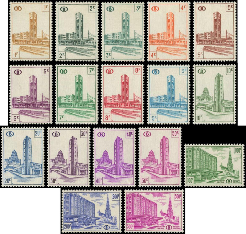 BELGIQUE Colis Postaux * - 336/50B, Complet 17 Valeurs - Cote: 142 - Belgium