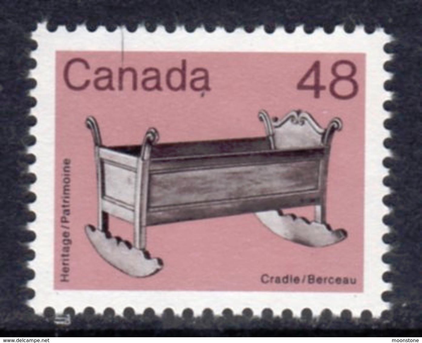 Canada 1982-7 Heritage Artefacts Definitives 48c Cradle, MNH, SG 1064 - 1952-.... Reign Of Elizabeth II