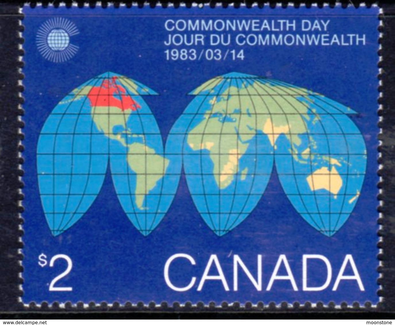 Canada 1983 Commonwealth Day Map, MNH, SG 1084 - 1952-.... Reign Of Elizabeth II