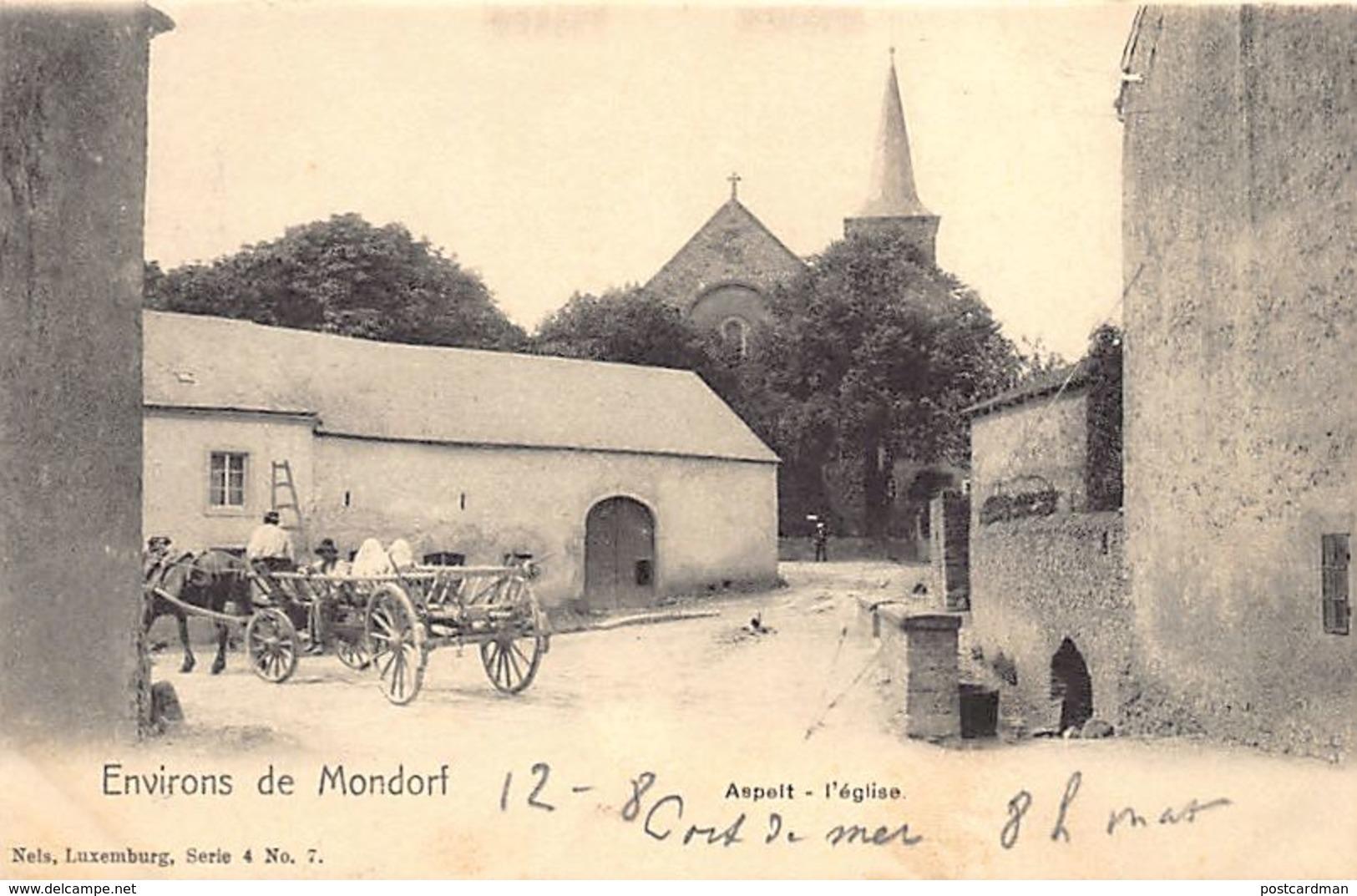 ASPELT - L'église - Ed. Nels Série 4 N. 7. - Ansichtskarten