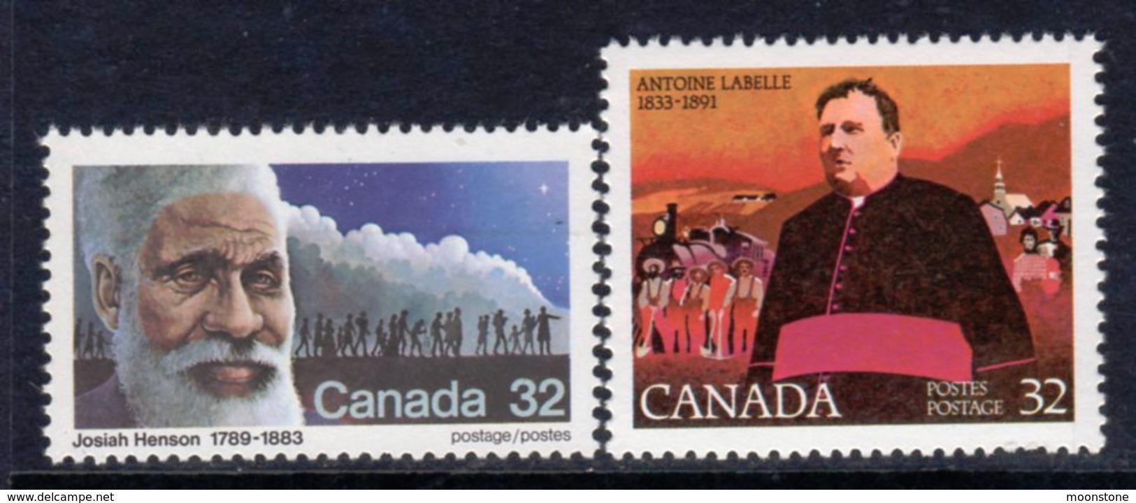 Canada 1983 19th Century Social Reformers Set Of 2, MNH, SG 1104/5 - 1952-.... Reign Of Elizabeth II