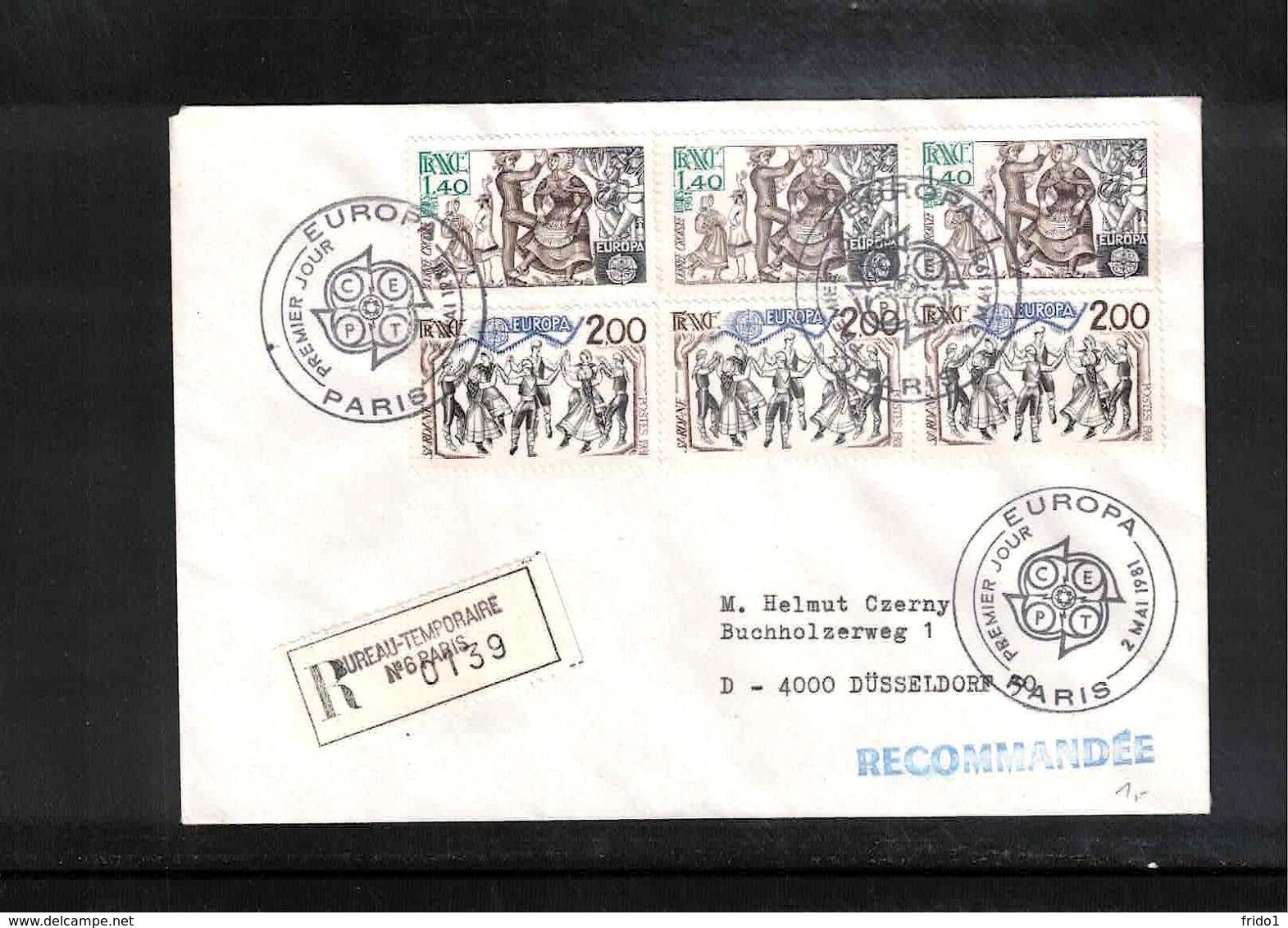 France / Frankreich 1981 Europa Cept Interesting Registered Letter FDC - Europa-CEPT