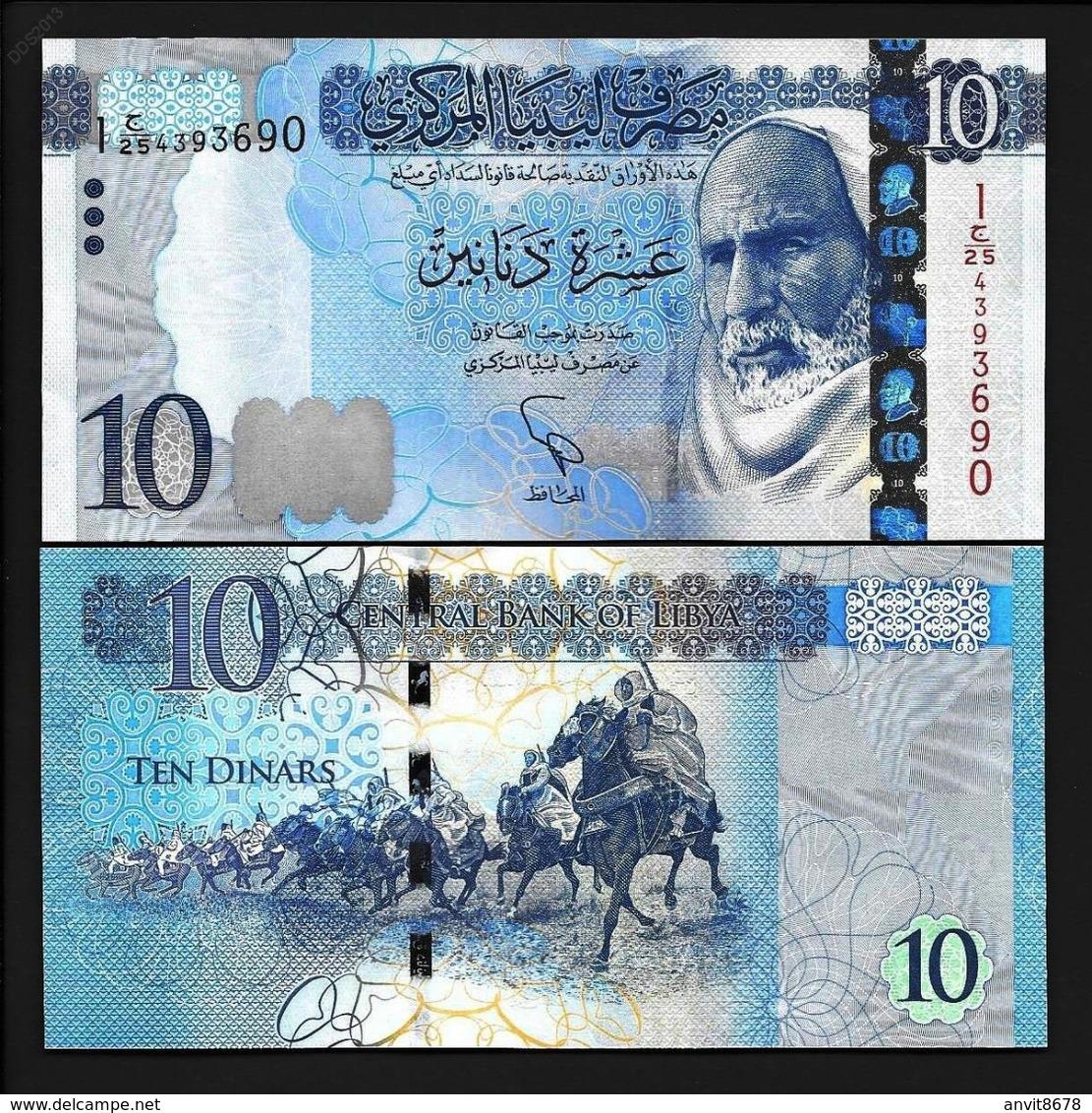 LIBYA  10  DINAR 2015 UNC - Libya