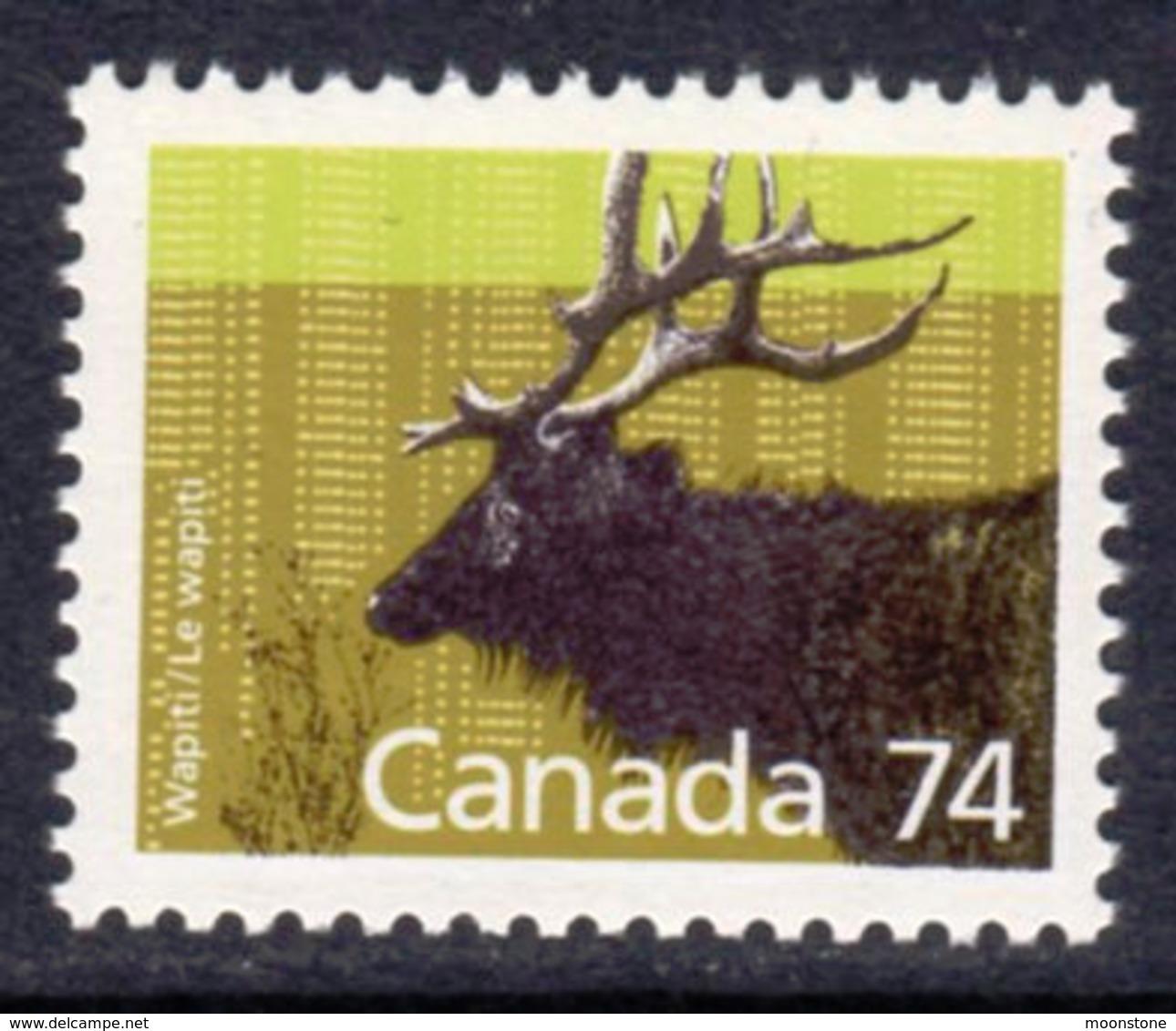 Canada 1988-93 Mammals Definitives 74c Wapiti Value, MNH, SG 1274 - 1952-.... Reign Of Elizabeth II
