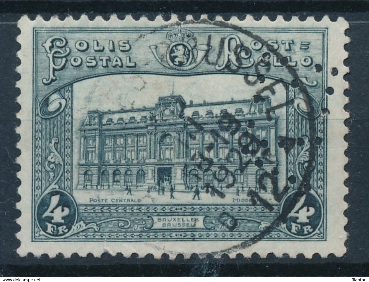 "TR 171 - ""BRUXELLES BRUSSEL 12"" - PERFIN -(ref. 28.687) - 1923-1941"