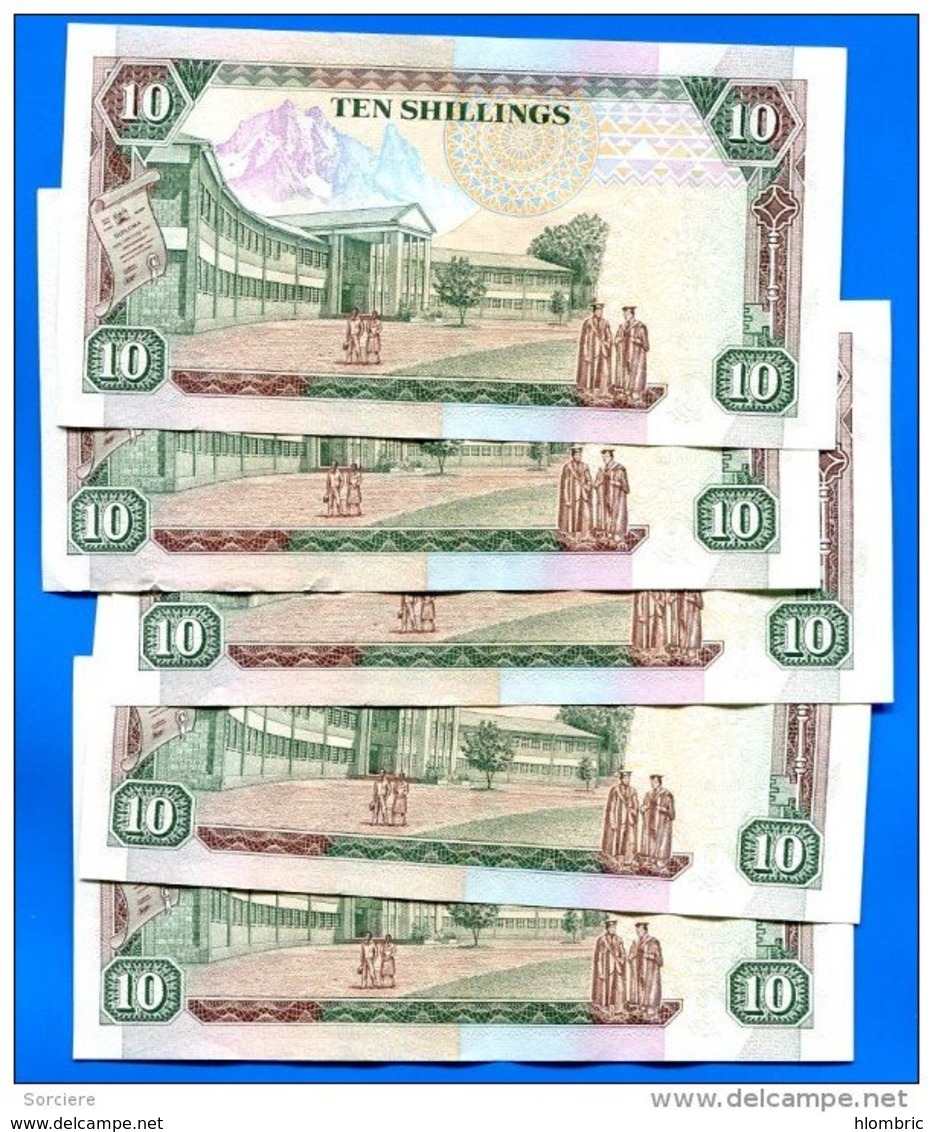 Kenya  10  Shillings  1993  Sup  Suite  5  Billets - Kenya