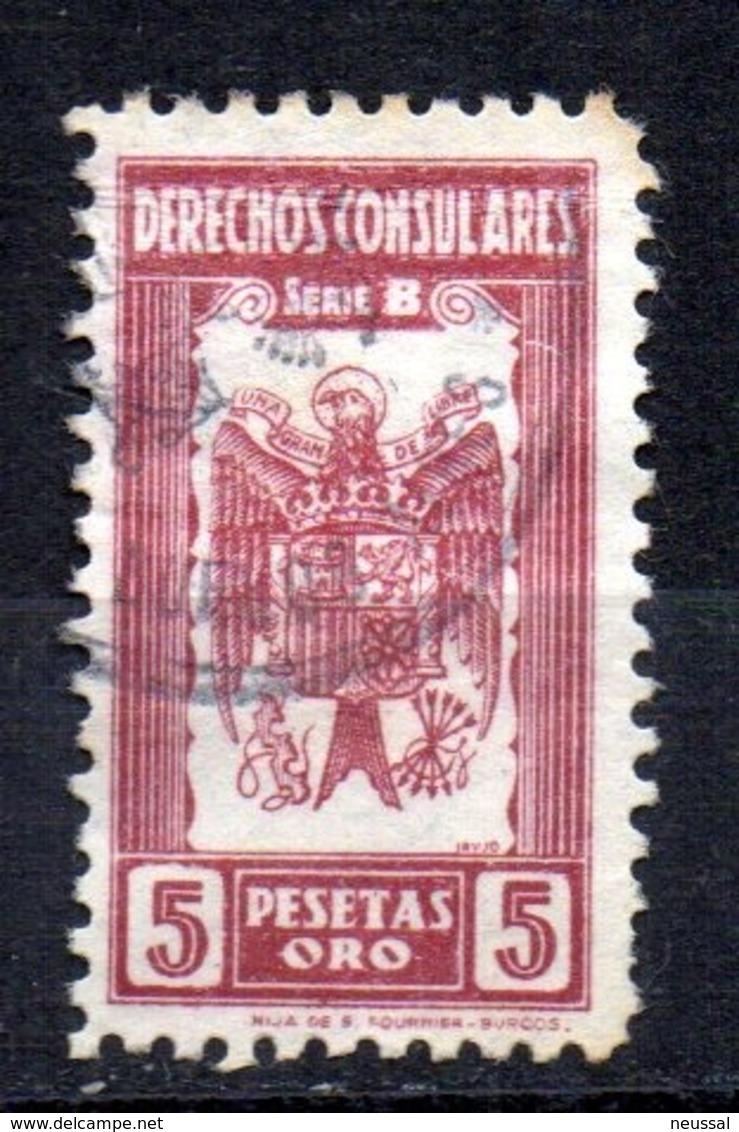 Fiscal De Derechos Consulares Serie B 5 Pesetas - Fiscales
