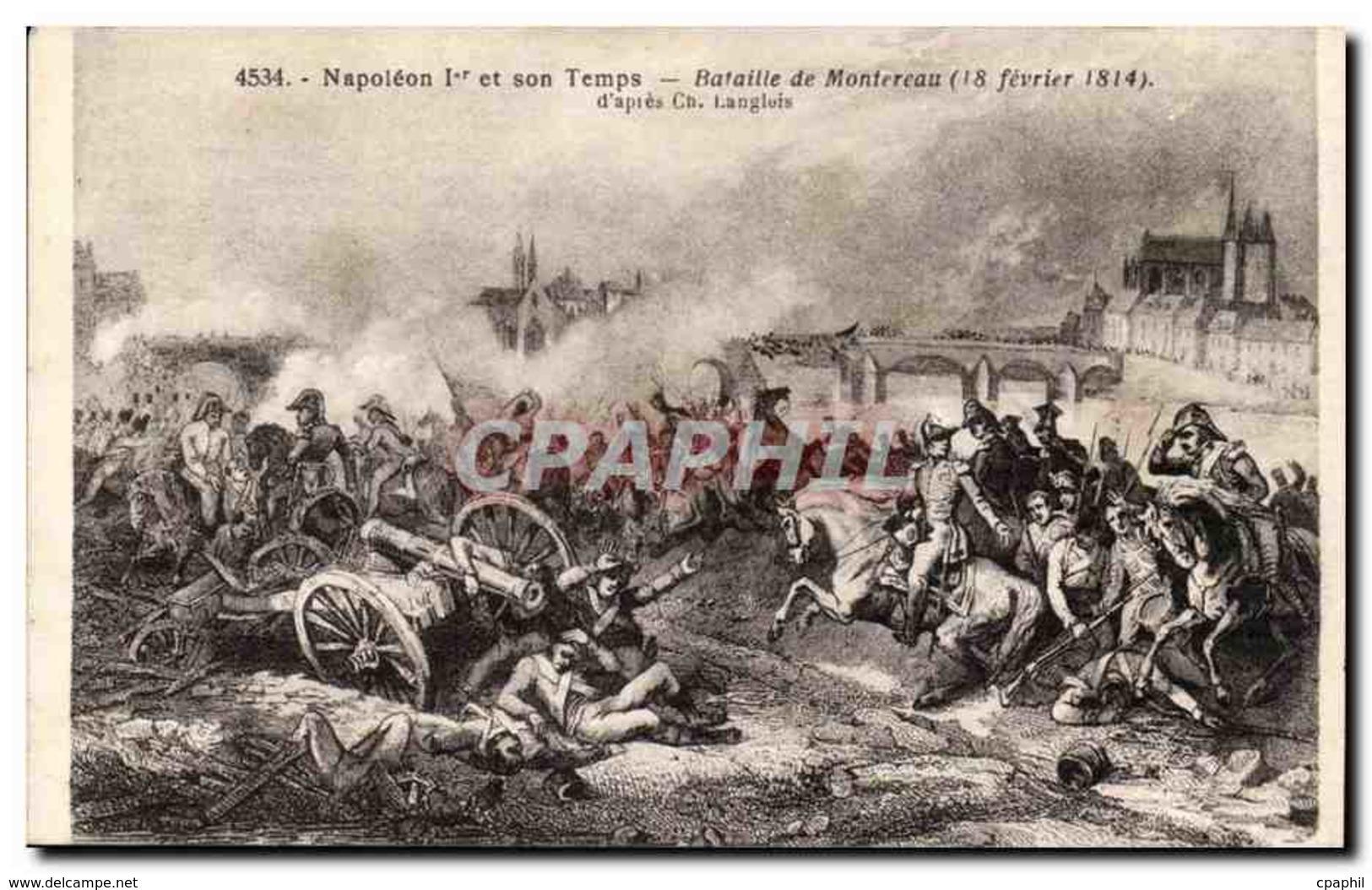 CPA Histoire Napoleon Et Son Temps Bataille De Montereau (18 Fevrier 1814) - Histoire