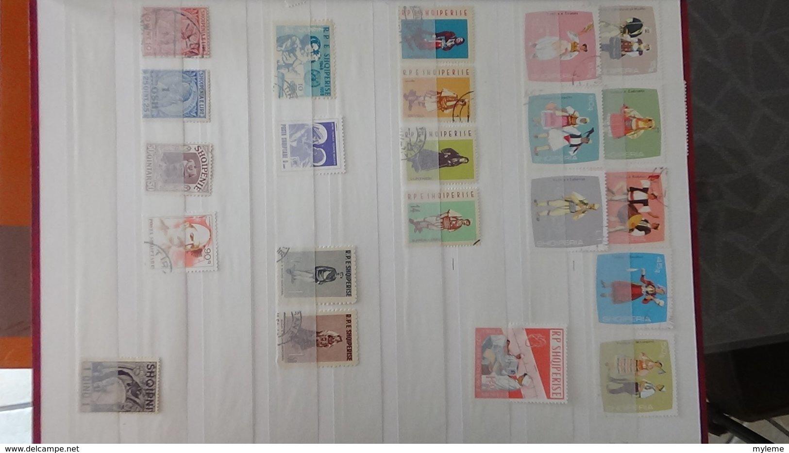Collection D'ALBANIE Dont Des Doubles Superposés. A Saisir !!! - Timbres