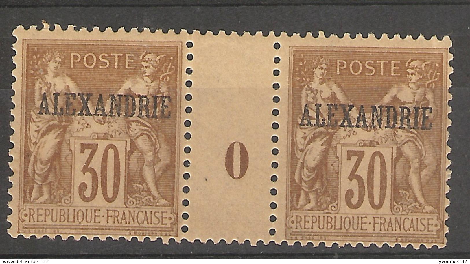 Alexandrie - Egypte _ Millésimes Sage (1900) N°10 ( Trace Dr Charnière) - Neufs