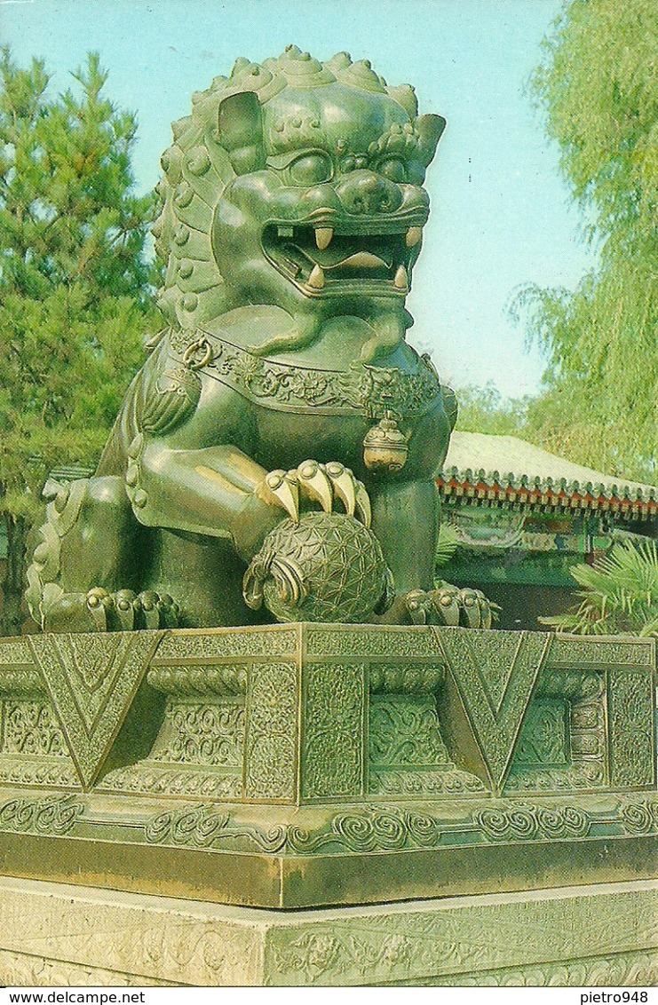 Pechino (Beijing, Cina) Palazzo D'Estate, Leone Di Bronzo, Bronze Lion - Cina