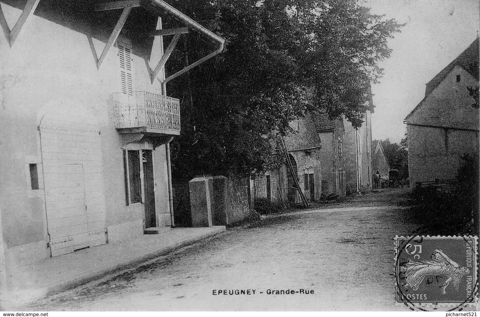 CPA De EPEUGNEY (Doubs) - Grande Rue. Circulée En 1909 - France
