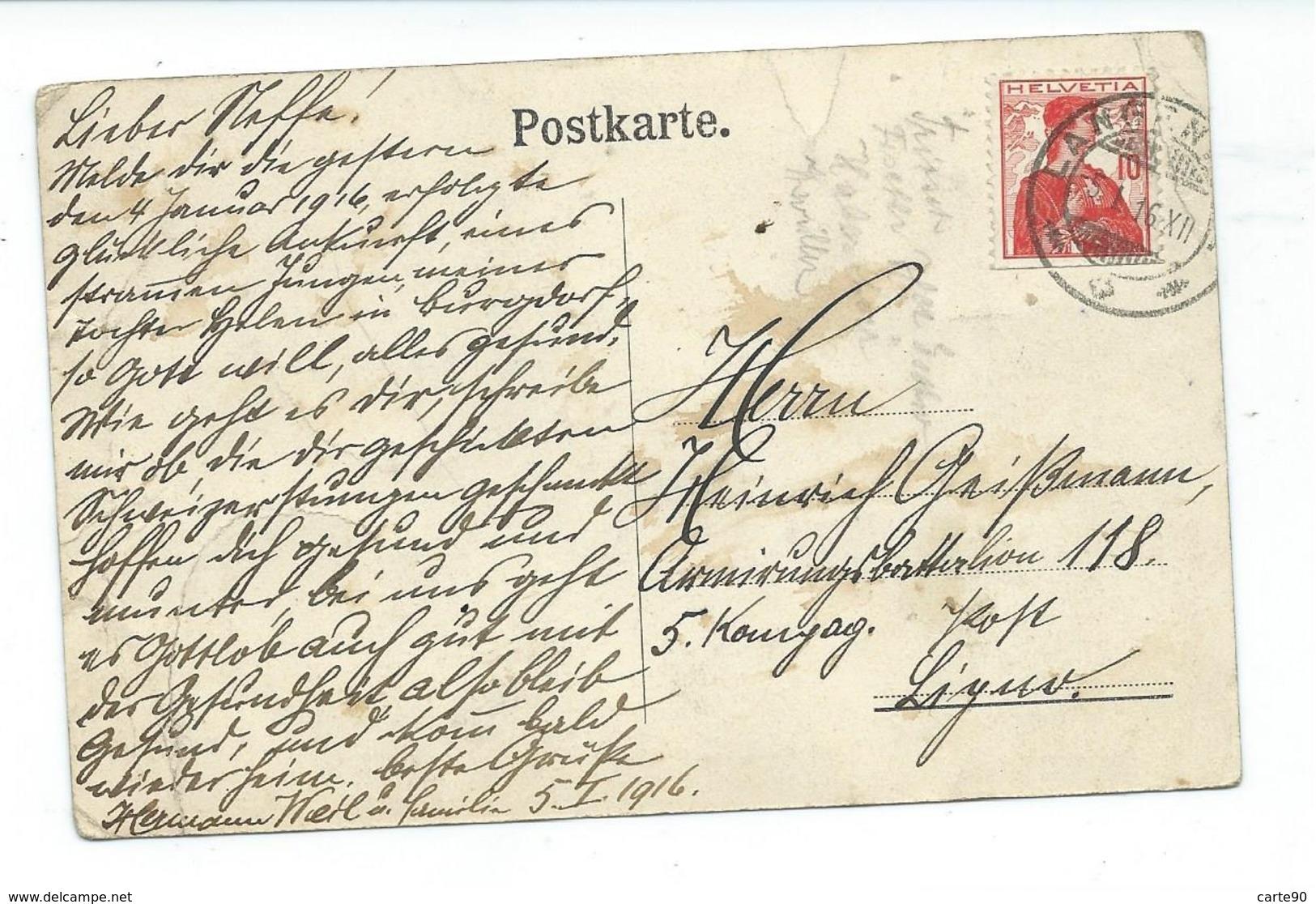 CPA WIEHHANDLUNG VON HERMAN WEIL - LANGENTHAL - TRES ANIMEE - VOIR DESCRIPTION - BE Berne