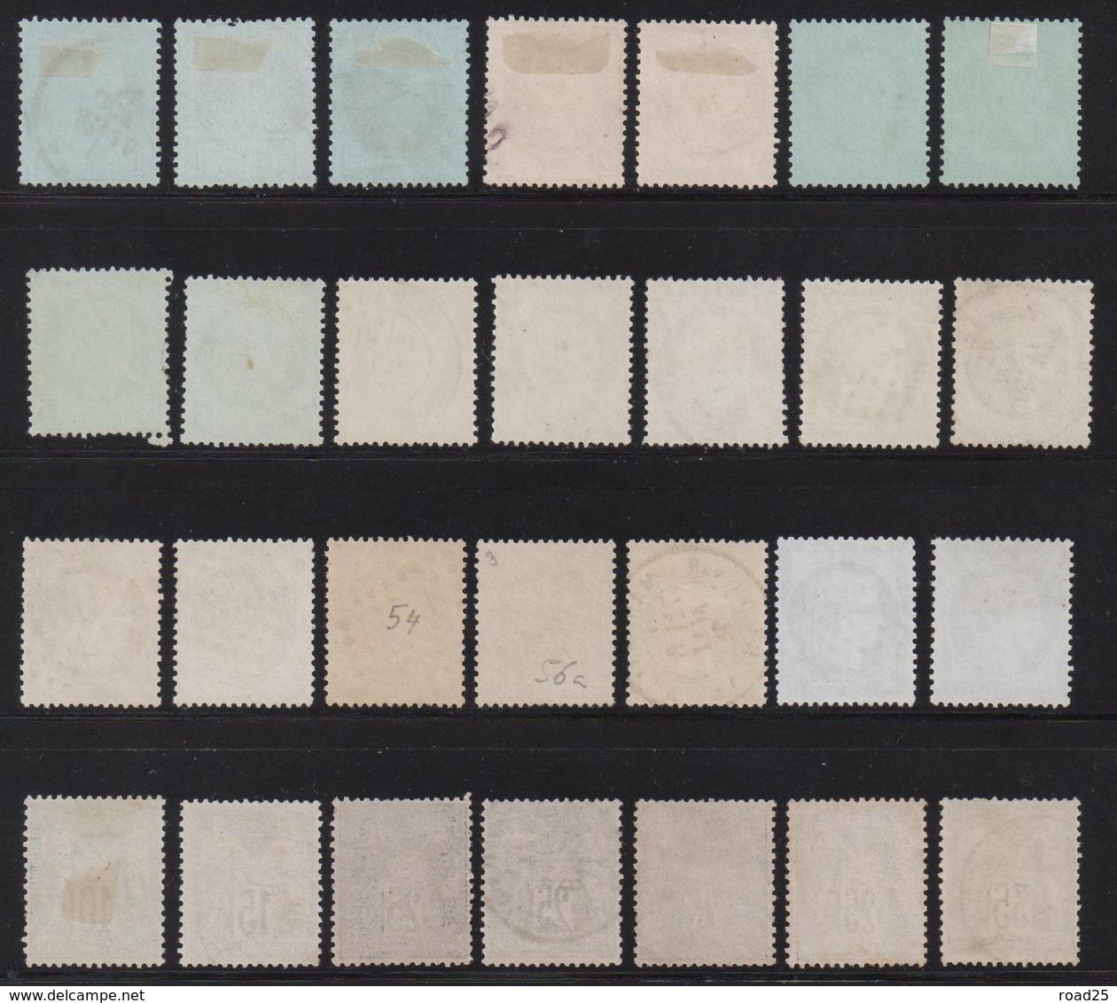 Collection De 85 Timbres Classiques Napoléon Cérès Sage , Nuances Et Variétés Diverses, 2 Certificats Numériques Calves - Collections