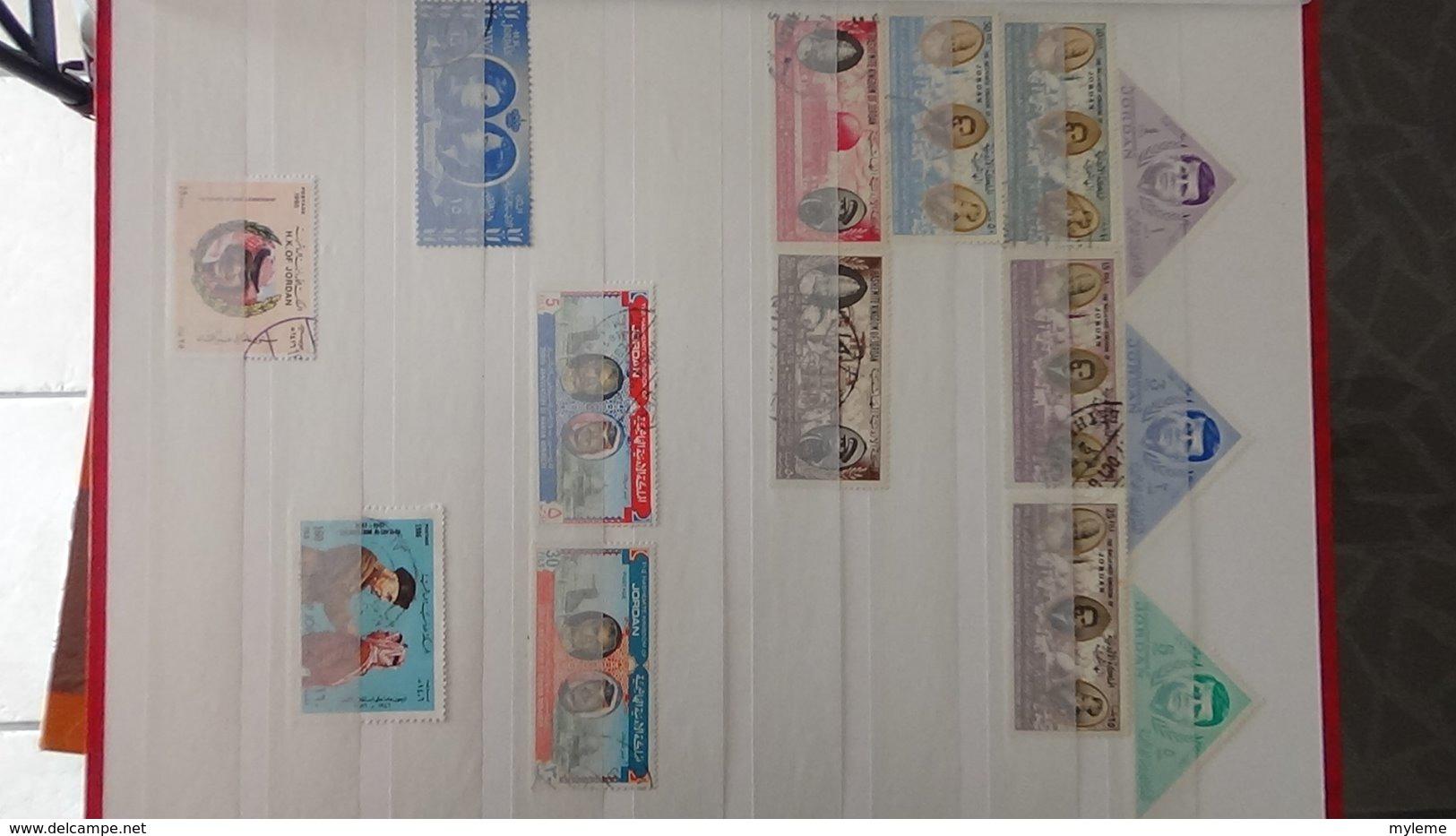 Collection De JORDANIE Dont Des Doubles Superposés. A Saisir !!! - Timbres