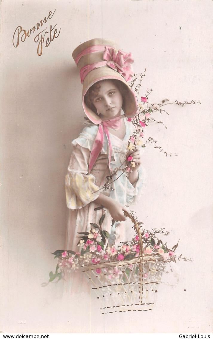 Bonne Fête Panier De Fleurs Chapeau - Jeune Fille - Geburtstag