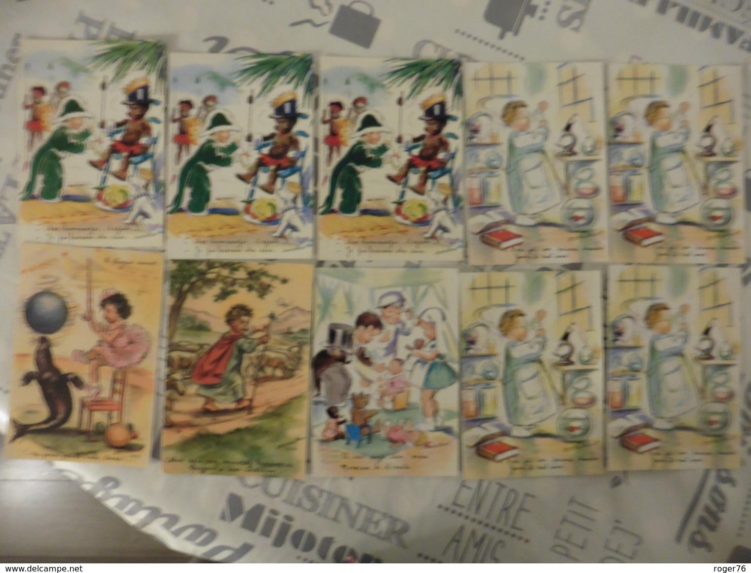 LOT  DE  10  CARTES  GERMAINE   BOURET - Postales