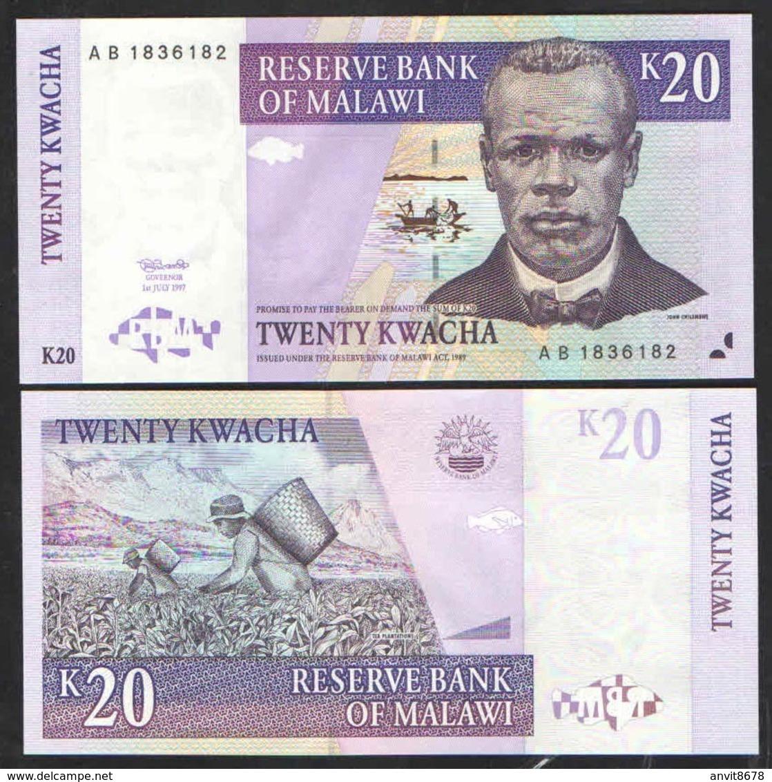 MALAWI  20 KWACHA   1997 UNC - Malawi