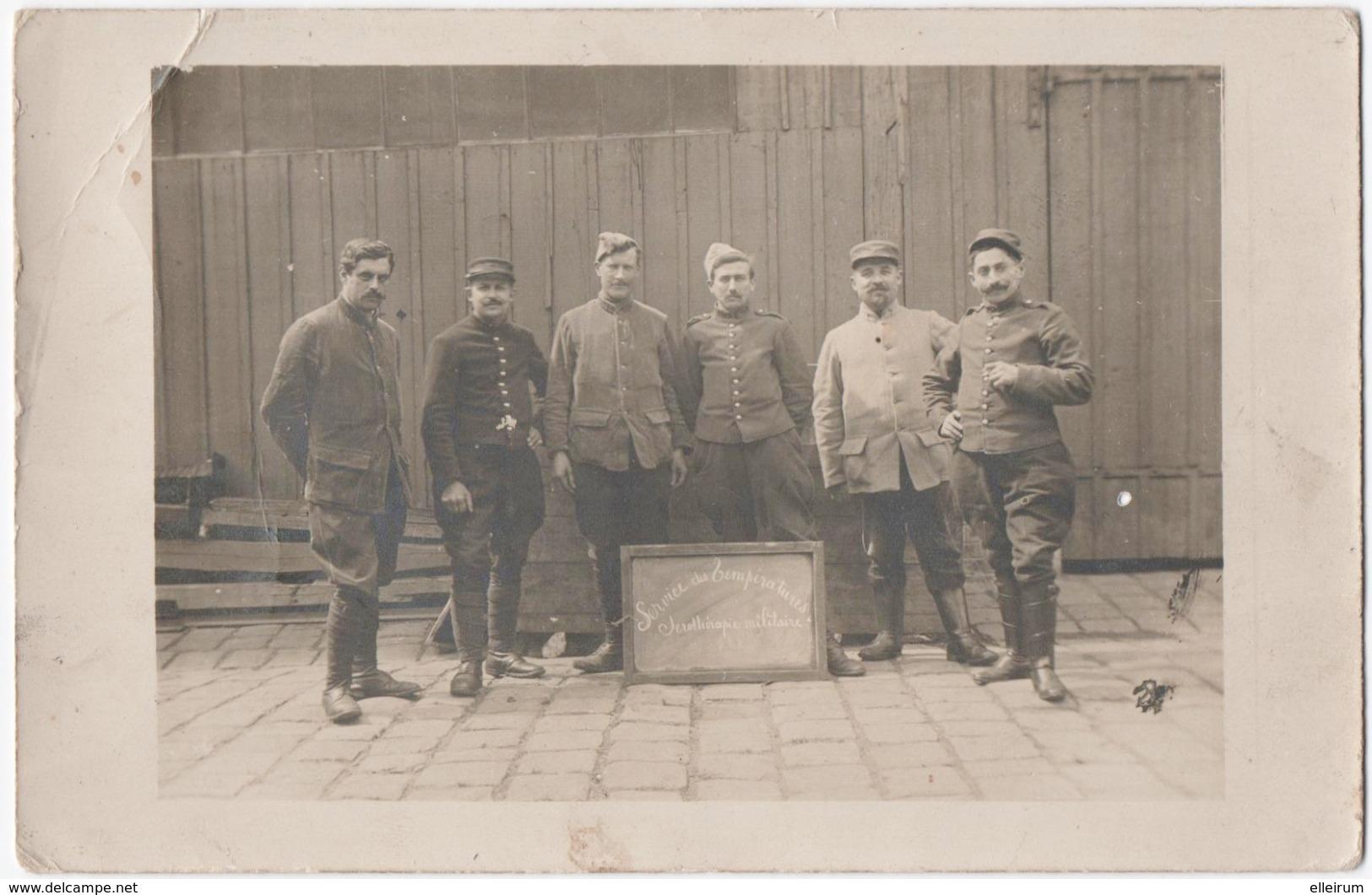 MILITARIA. 14-18. CARTE PHOTO. SERVICE Des TEMPERATURES. SEROTHERAPIE MILITAIRE. Bld RASPAIL à PARIS? A SITUER. - Guerra 1914-18