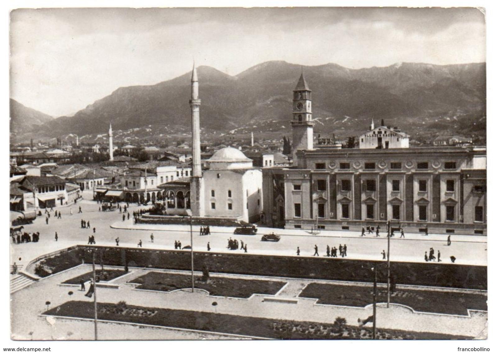 ALBANIE/ALBANIA - TIRANA/TIRANE PANORAMA / PIAZZA SCANDERBEG / MOSQUE - Albania