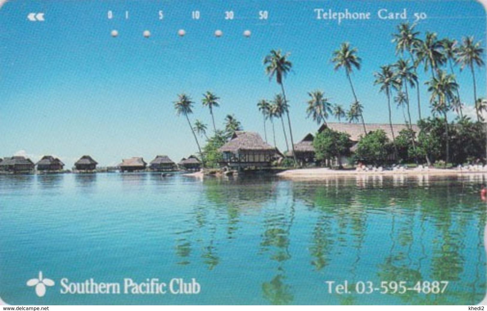 TC Japon / 110-76735 - TAHITI / PF POLYNESIE FRANCAISE - Southern Pacific Club - FRENCH POLYNESIA Japan Phonecard -  33 - Paysages