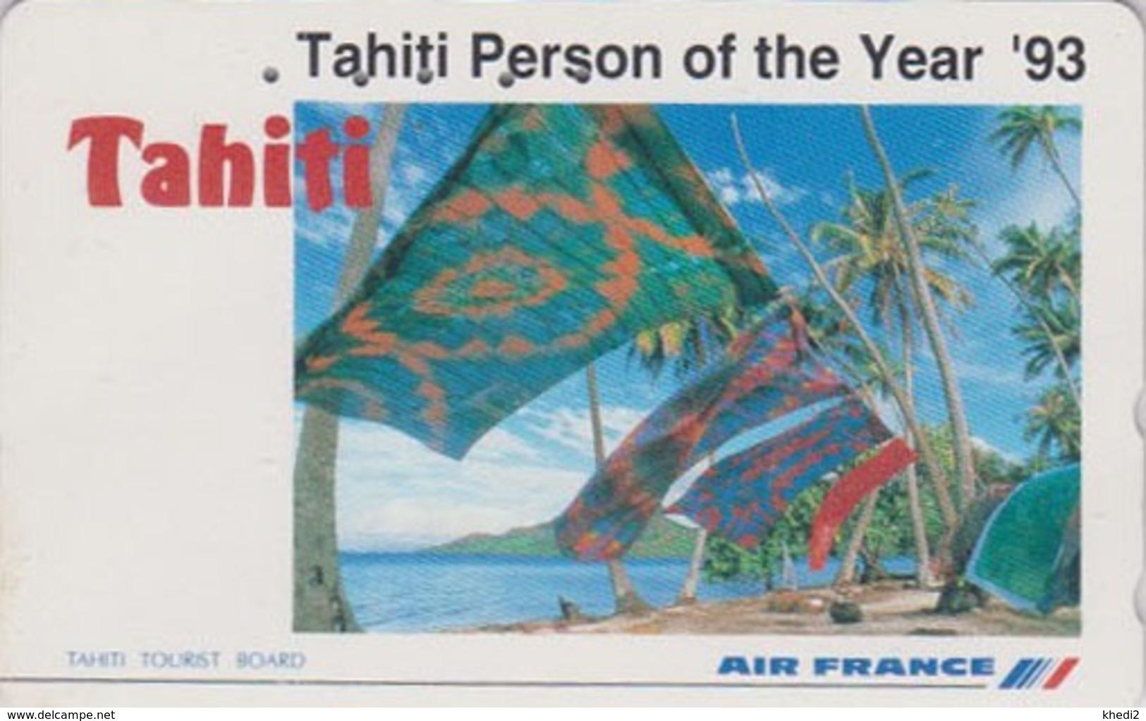 RARE Télécarte Japon / 110-011 - AIR FRANCE TAHITI / PF POLYNESIE French Polynesia - Japan AIRLINES Phonecard - 39 - Avions
