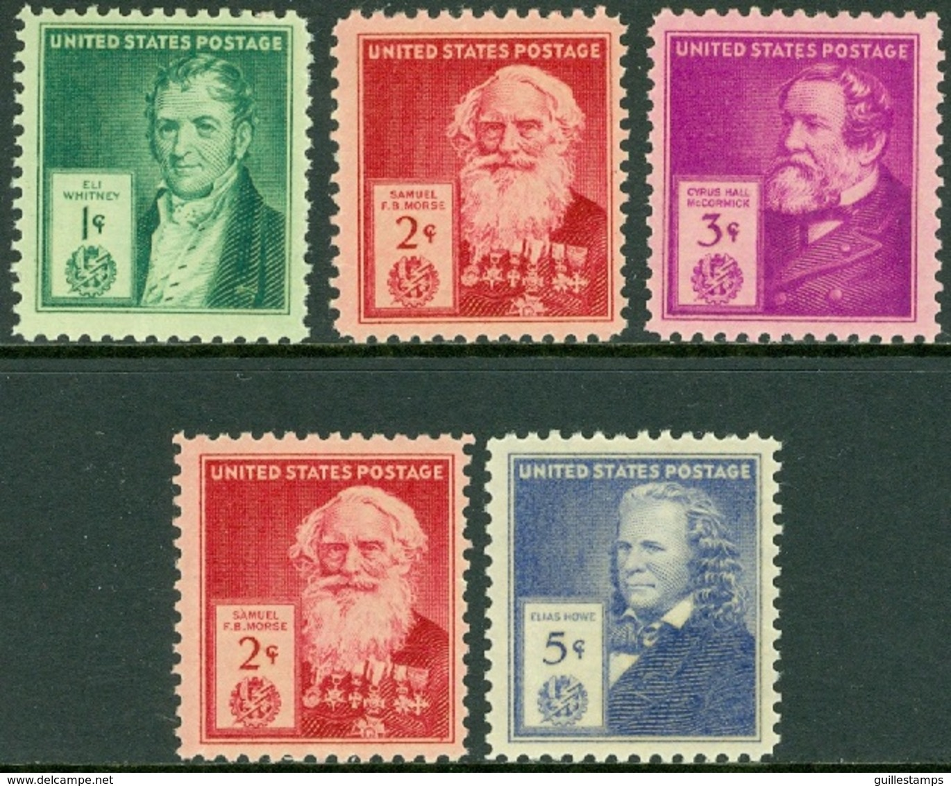 UNITED STATES OF AMERICA 1940 FAMOUS AMERICANS, INVENTORS** (MNH) - Unused Stamps