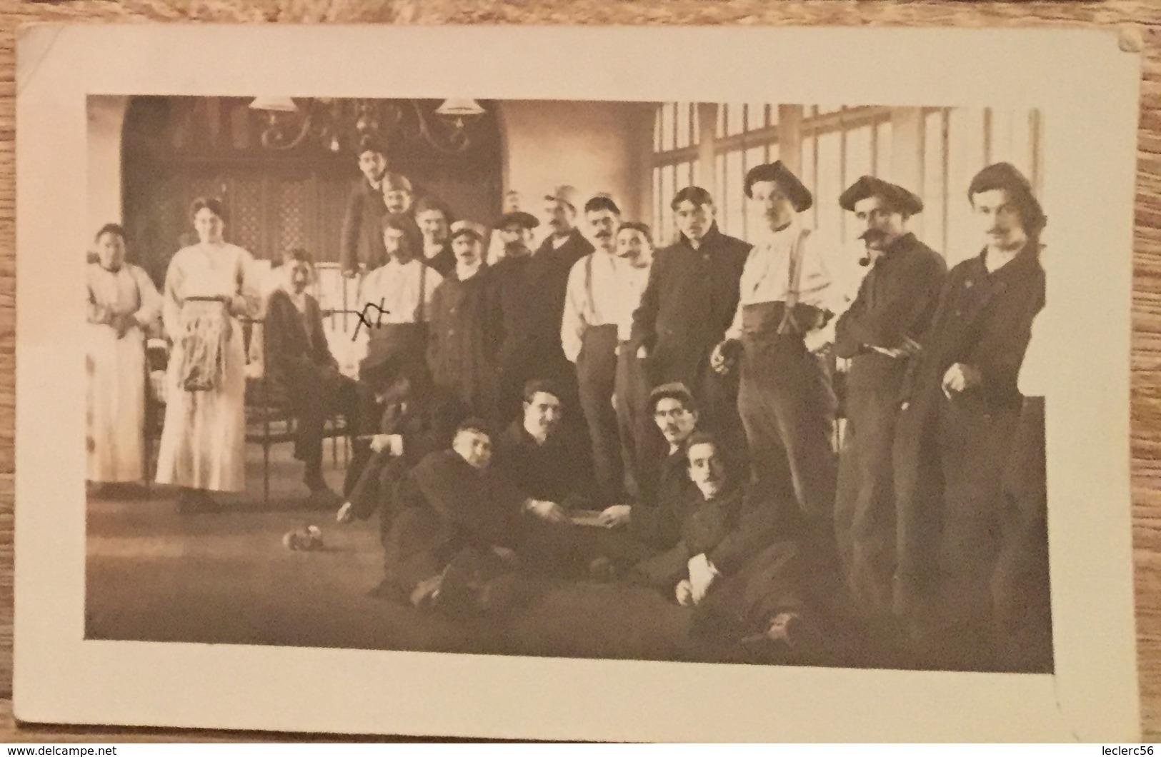 LE VESINET 1917 CARTE PHOTO HOPITAL MILITAIRES CPA 2 SCANS - War 1914-18