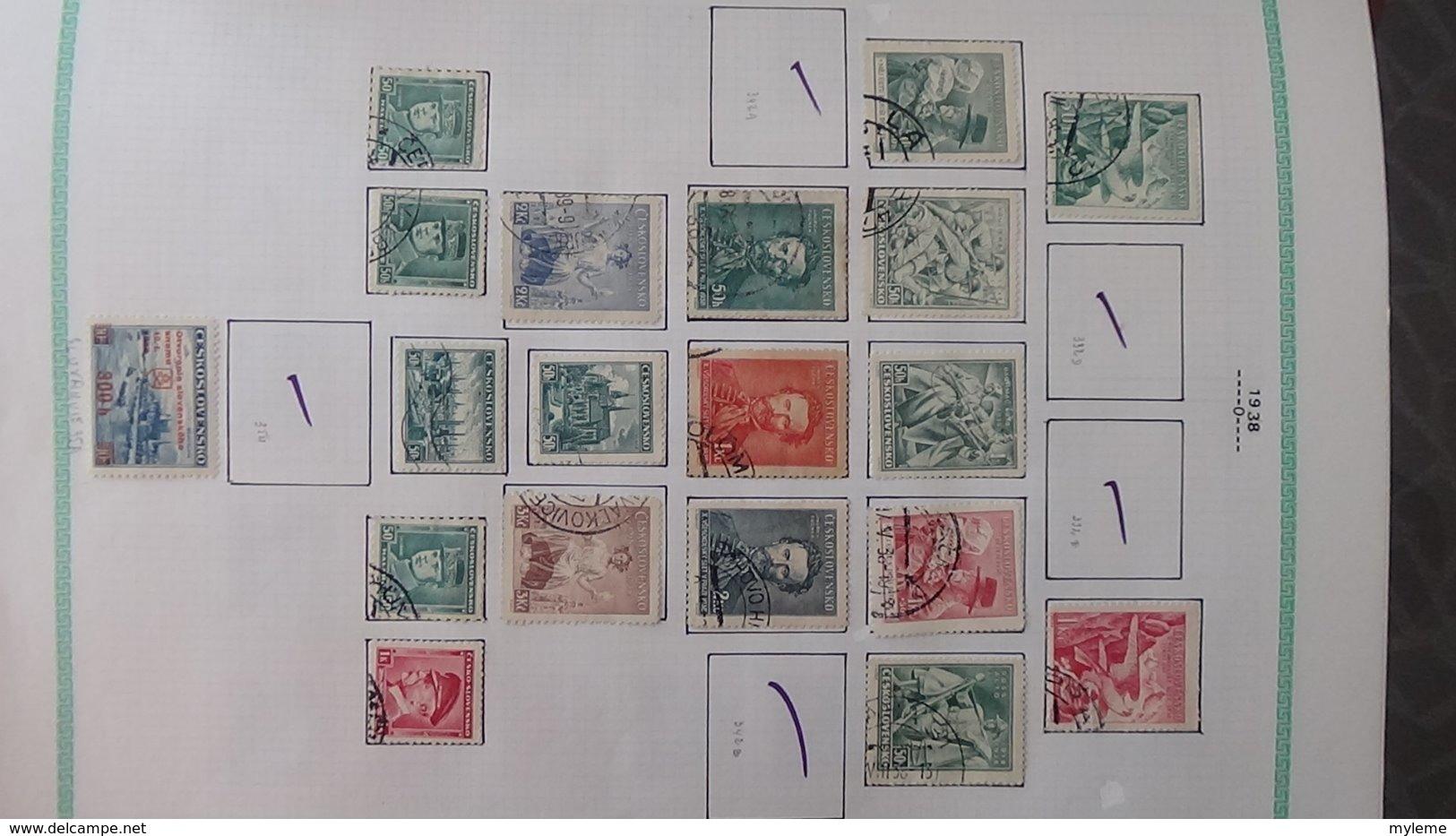 Grosse Collection De TCHECOSLOVAQUIE Bien Suivie Toutes Les Photos N'ont Pas été Prises - Collezioni (in Album)