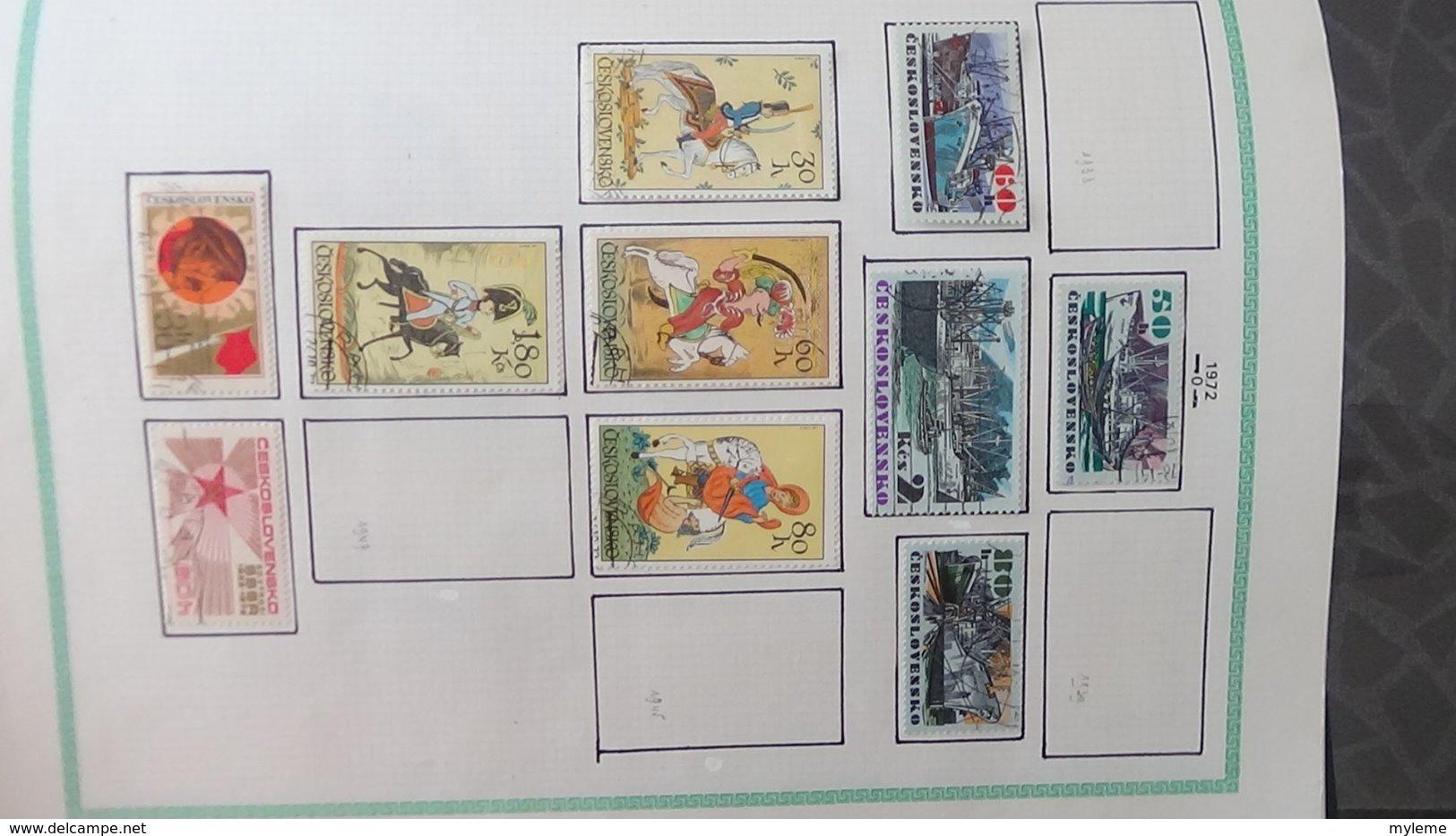 Grosse Collection De TCHECOSLOVAQUIE Bien Suivie Toutes Les Photos N'ont Pas été Prises - Sammlungen (im Alben)