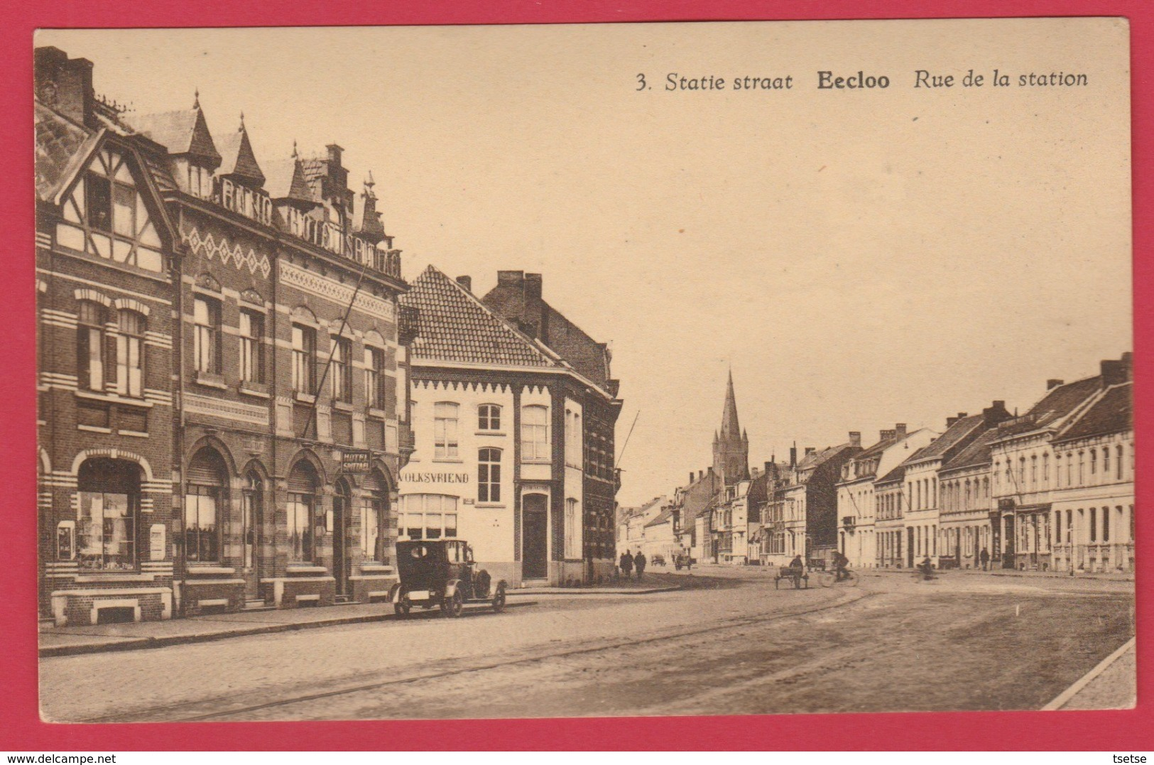 Eeklo  - Statie Straat ... Oldtimer ( Verso Zien ) - Eeklo