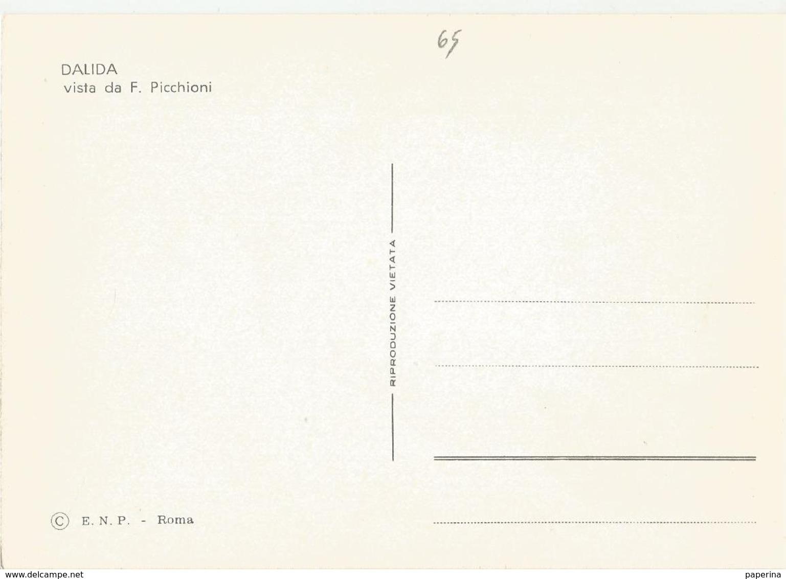 CART. DISEGNATA DA PICCHIONI I BIG DELLA CANZONE DALIDA  (65) - Cantanti E Musicisti
