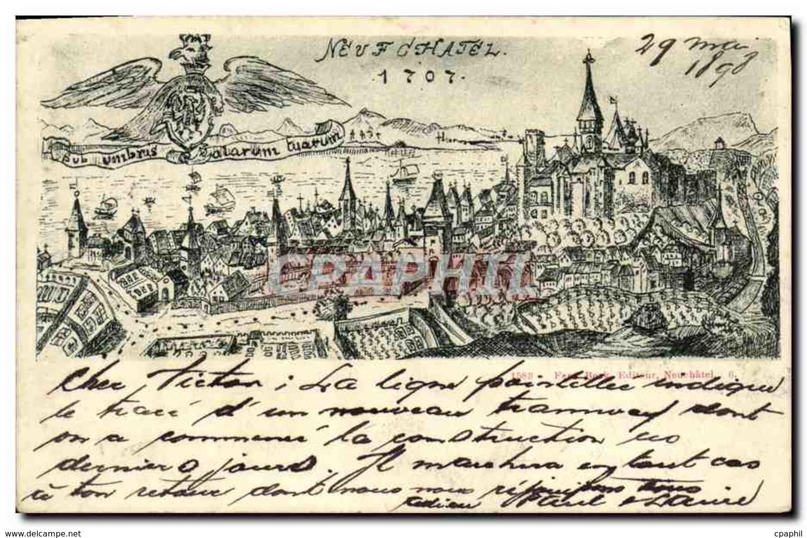 CPA Suisse Neuchatel Carte 1898 - NE Neuchâtel