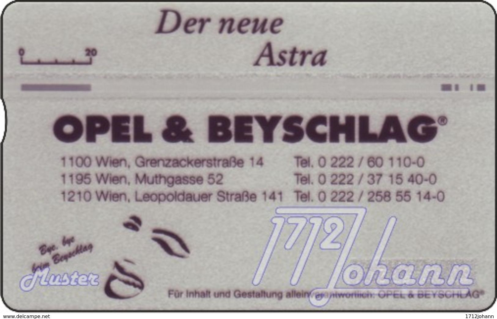 """TWK Österreich Privat: """"Opel & Beyschlag 2"""" Gebr. - Oesterreich"""