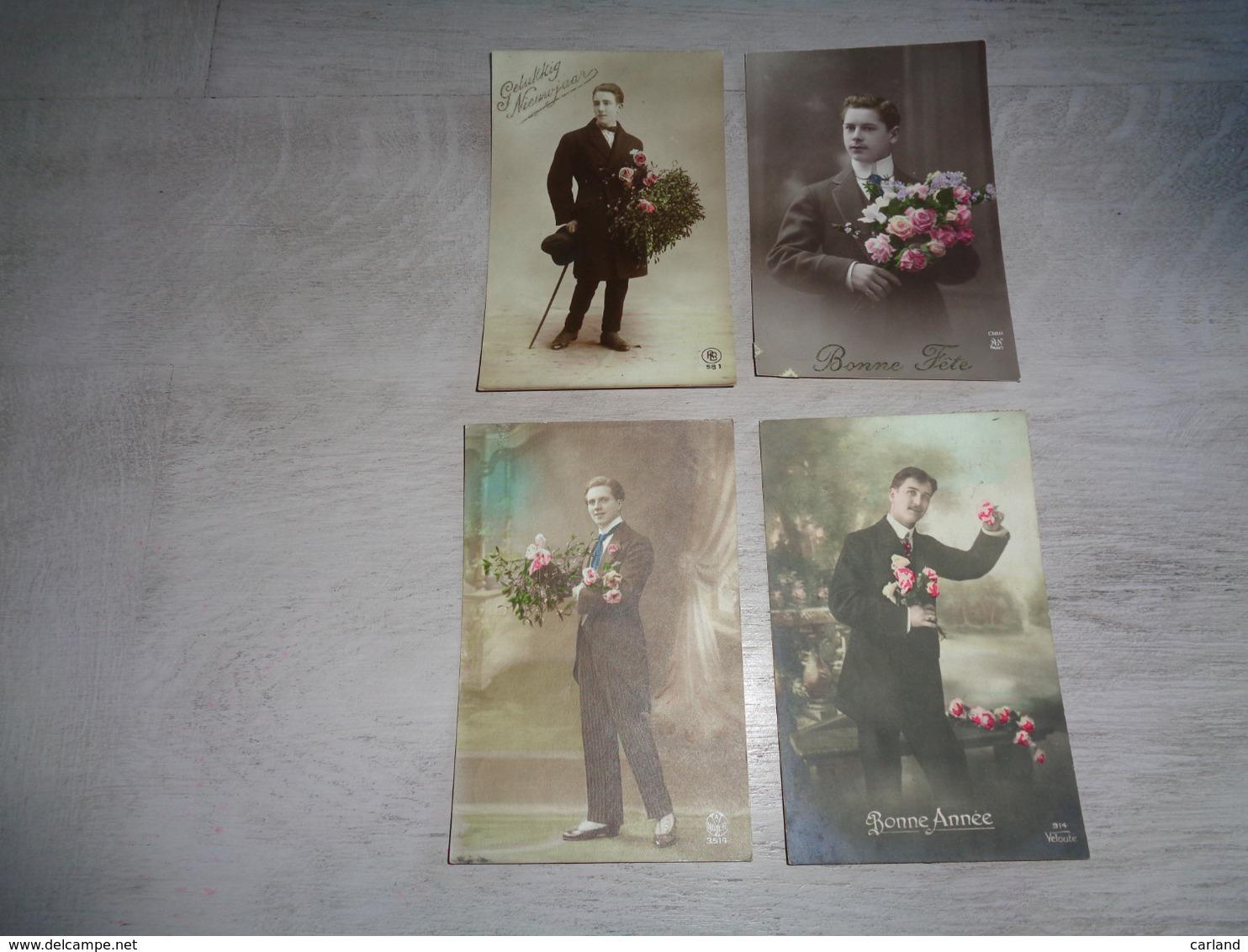 Beau Lot De 60 Cartes Postales De Fantaisie  Hommes  Homme   Mooi Lot 60 Postkaarten Van Fantasie Mannen Man -  60 Scans - Cartes Postales