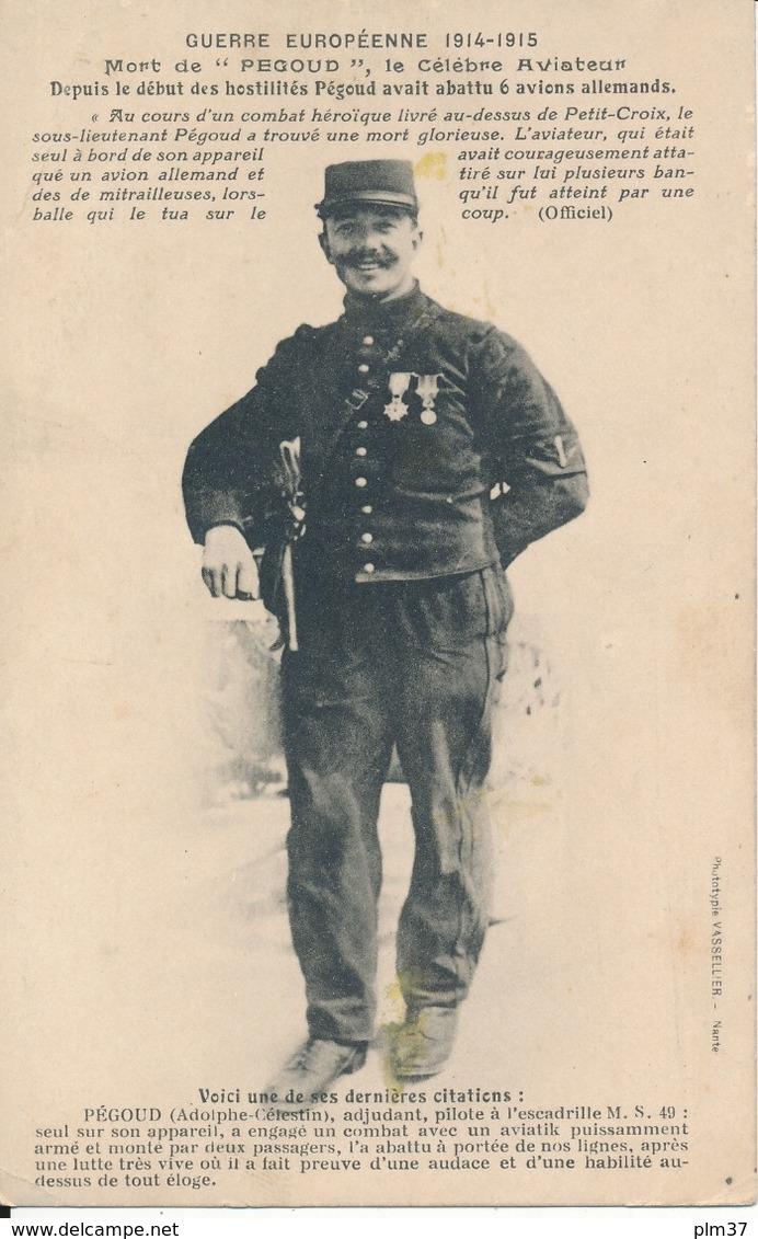 Guerre Européenne 1914-1915 - Mort De L'Aviateur Pégoud - Weltkrieg 1914-18