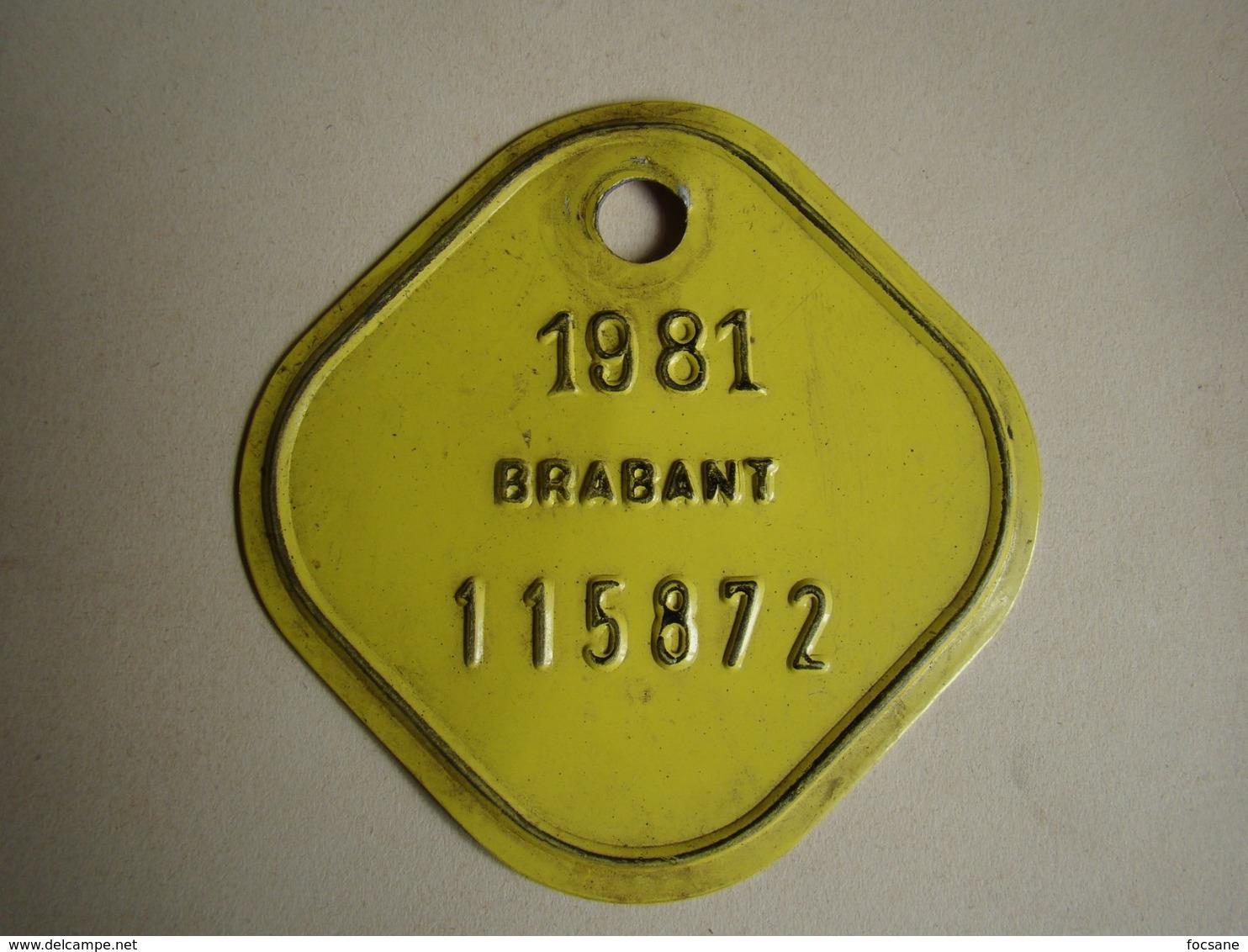 Plaque Vélo Brabant 1981 - Plaques D'immatriculation